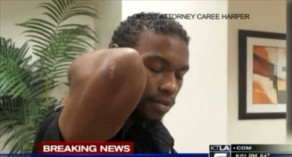 LAPD officer faces assault charge over violent arrest caught on security camera