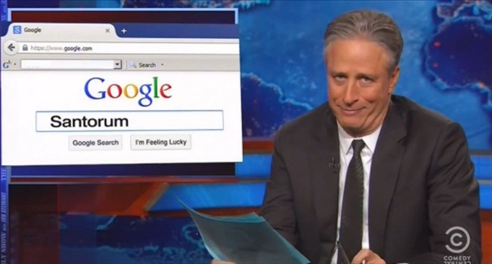 Jon Stewart: Santorum may not go to a gay wedding, but 'he'll be there on the wedding night'