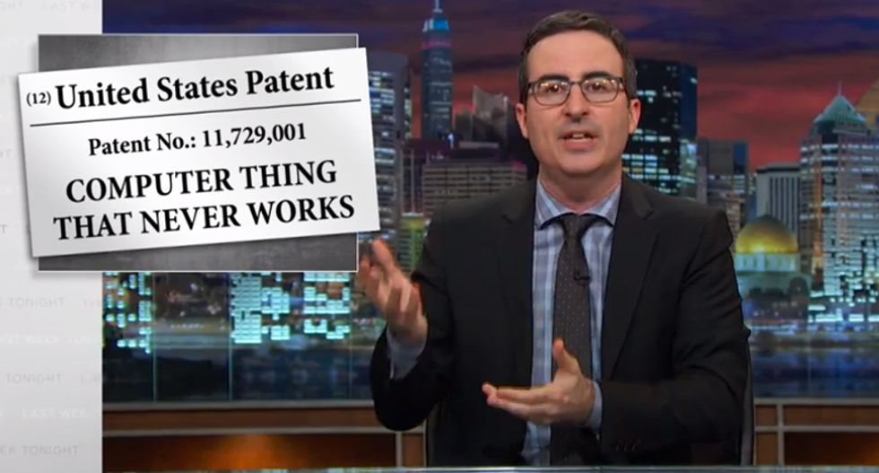 John Oliver rips the scourge of patent trolls who 'sue the living sh*t out of people'