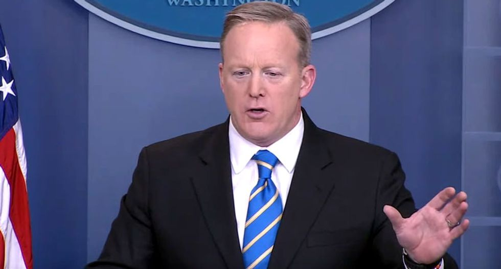 'Stop lying': Internet crushes Sean Spicer for repeating Trump's bogus voter fraud conspiracy