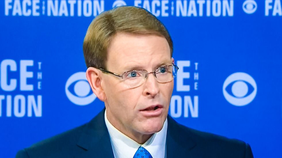 CBS host introduces Tony Perkins as 'anti-gay hate group' leader: 'You don't speak for Christians'