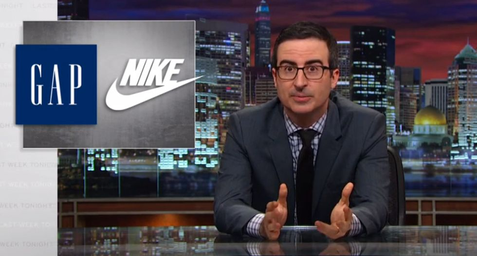 John Oliver rips The Gap, Walmart and other retailers for using overseas child labor — and it's beautiful