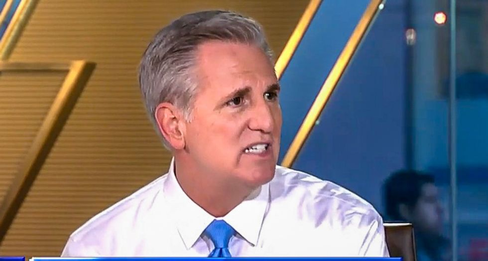 Kevin McCarthy plays Jedi mind trick on Fox News viewers: 'Watch what the president said -- he's not saying China should investigate'