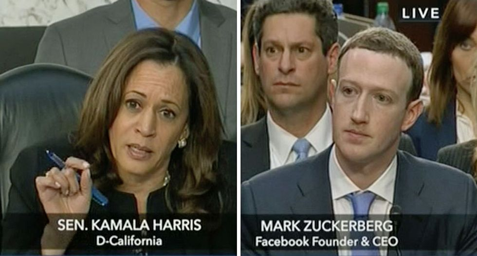 Kamala Harris grills Facebook's Mark Zuckerberg for deflecting Senate questions: 'You don't have answers'