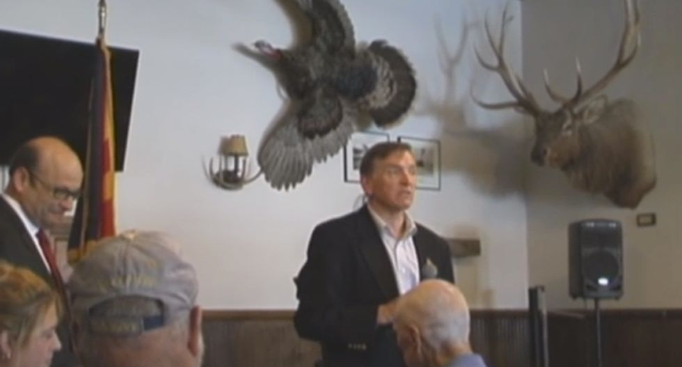 'We don't need science!': Chemtrail truthers badger GOP congressman at rowdy public meeting