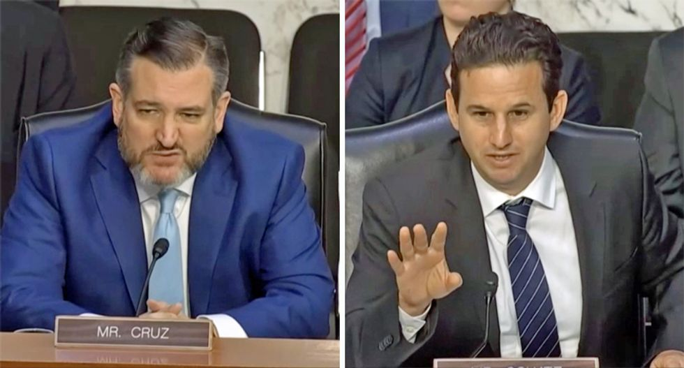 Ted Cruz slapped down at Senate hearing for 'working the refs' to keep extremist content on social media