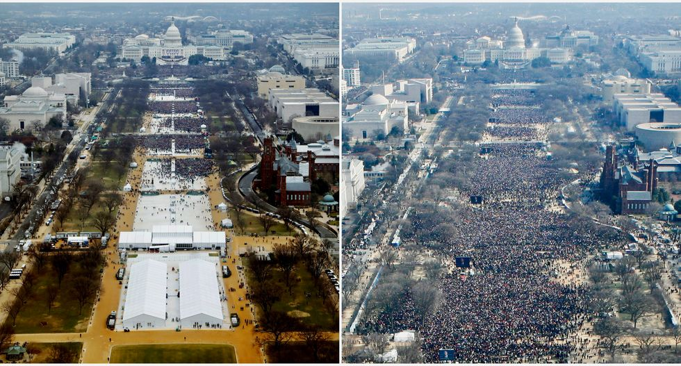 REVEALED: Trump personally intervened to get government photographer to hide tiny inauguration crowds