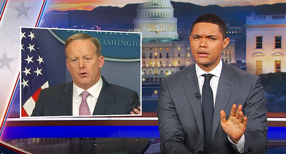 Trevor Noah hammers Sean Spicer for claiming unemployment isn't a number — but a feeling