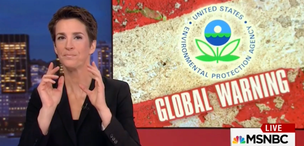 'It's day 4 and it's already happening': Maddow sounds the alarm on Trump's science gag order