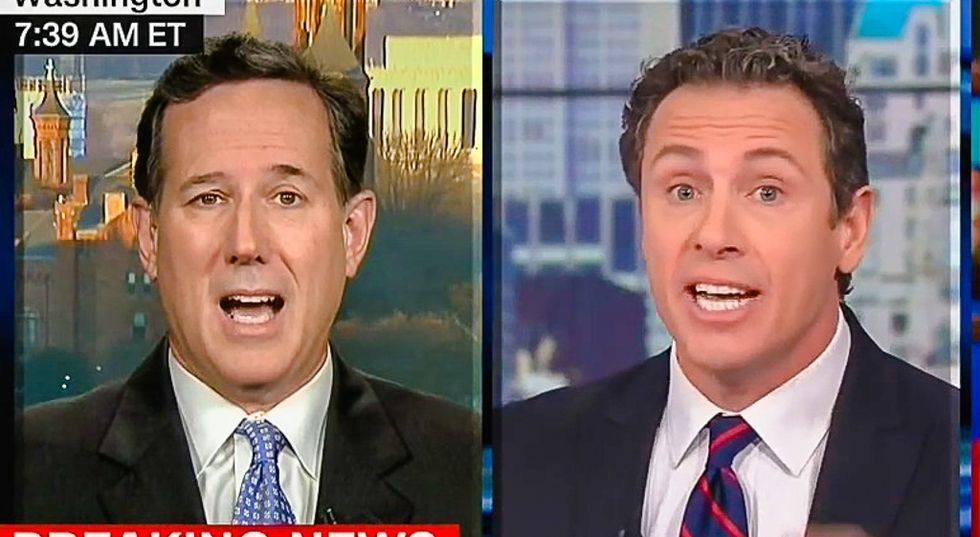 'It's a lie and dangerous lie': Chris Cuomo drops journalism bomb on Santorum's voter fraud myth