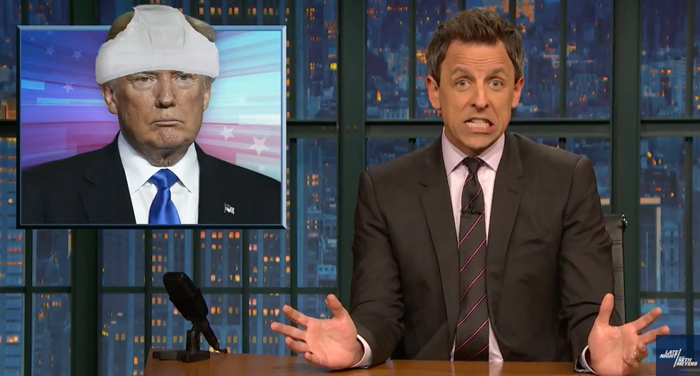 Seth Meyers marvels at Trump's 'extraordinary' response to FBI's Cohen raid: 'He has completely lost his mind'