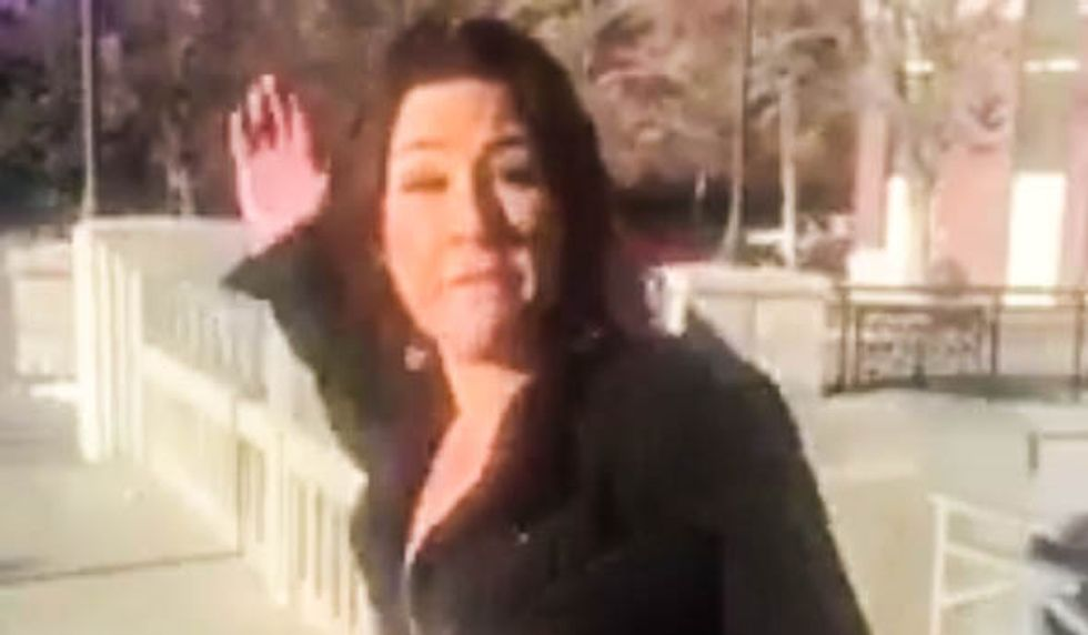 'Don't record me you f*cking n*gger!': Angry white woman caught on camera punching black actor