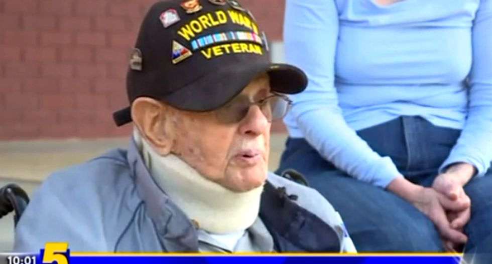 WWII veteran gives a dire warning after neo-Nazis disrupt Holocaust Remembrance Walk in Arkansas