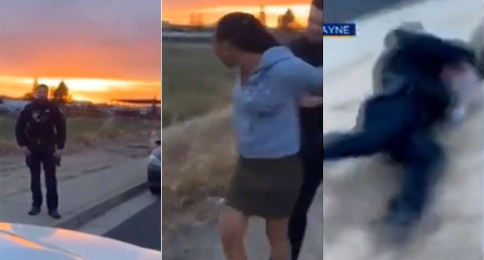 WATCH: Cop body slams woman for expired tags as her horrified mother films