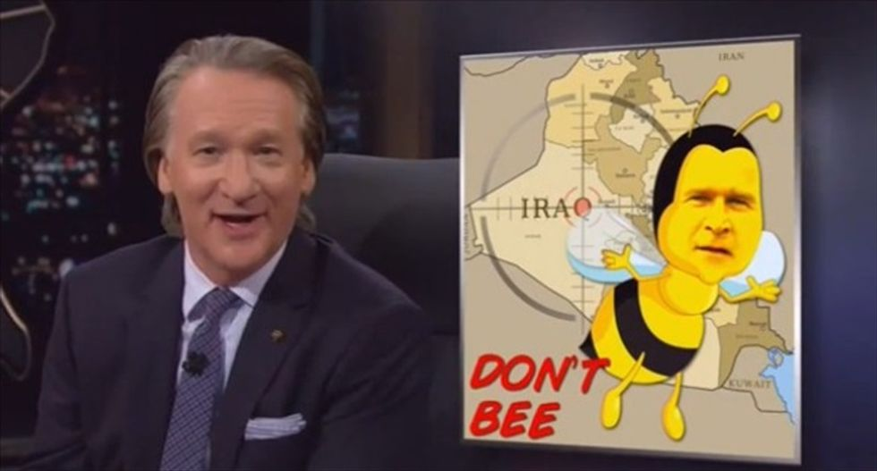Bill Maher shreds GOP 'chickenhawks' for recycling 'empty tough-guy talk' on campaign trail