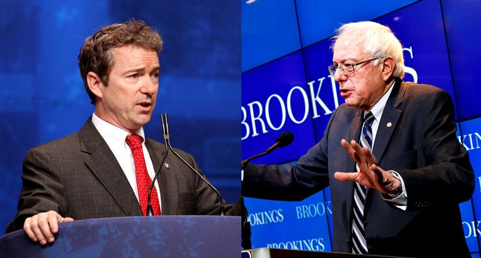 What would a presidential debate between Bernie Sanders and Rand Paul look like? Something like this