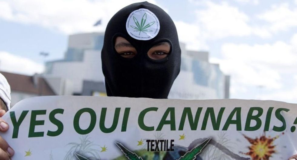 Paris protesters call on France to legalize recreational marijuana use