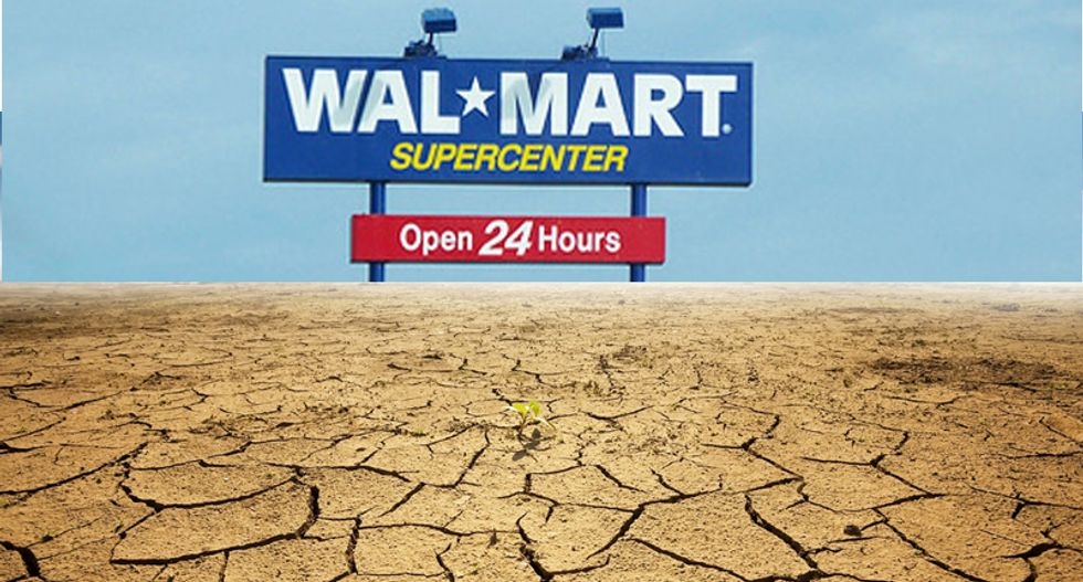 Walmart makes over $600 for every $1 they spend on drought-stricken California water -- and it's legal