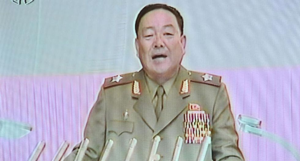 North Korea defense chief 'blown apart with anti-aircraft gun' after dozing off during military rally