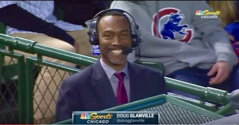 Cubs investigating fan's racist gesture towards former Cub and now reporter Doug Glanville