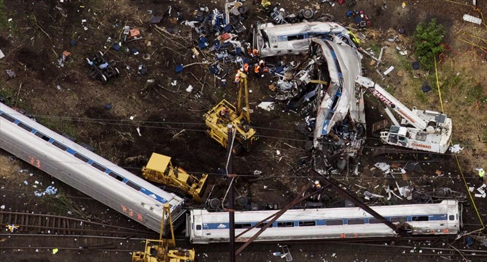 Amtrak train was traveling at more than 100 miles per hour when it derailed