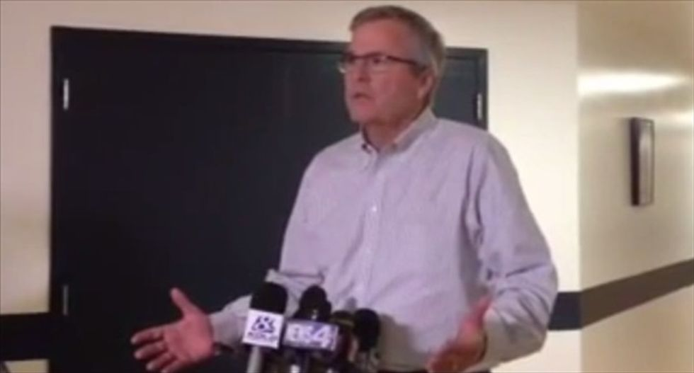'I'm running for president in 2016': Jeb Bush caught announcing campaign early