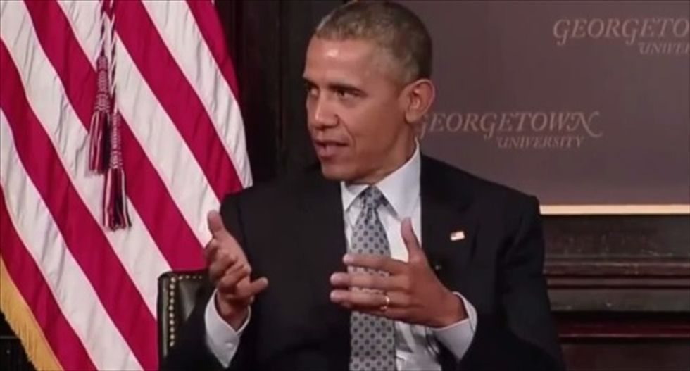 Obama blasts Fox News for pushing idea that the poor are 'leeches' who don't want to work