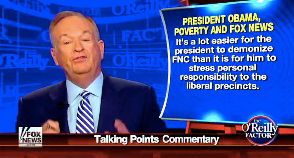 Bill O'Reilly: Obama should yell at poor people instead of criticizing Fox News scrooges