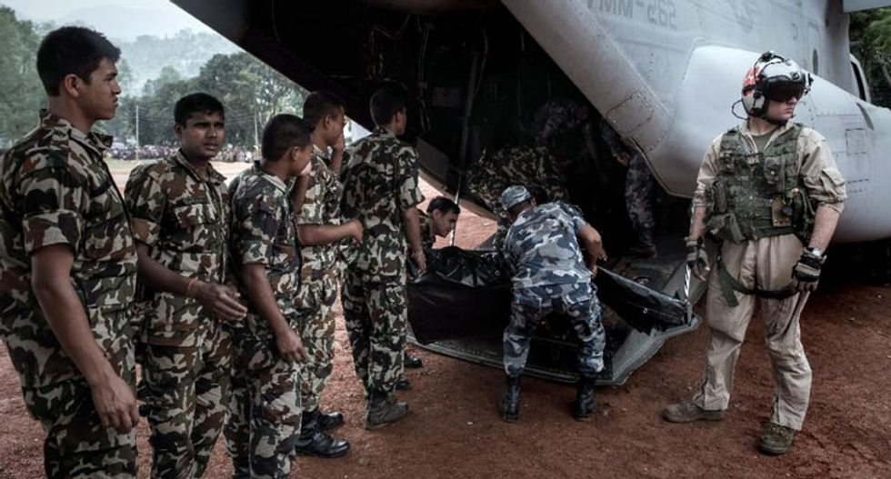 'We don't know if there are any survivors': Nepal army finds wreckage of missing US Marine chopper
