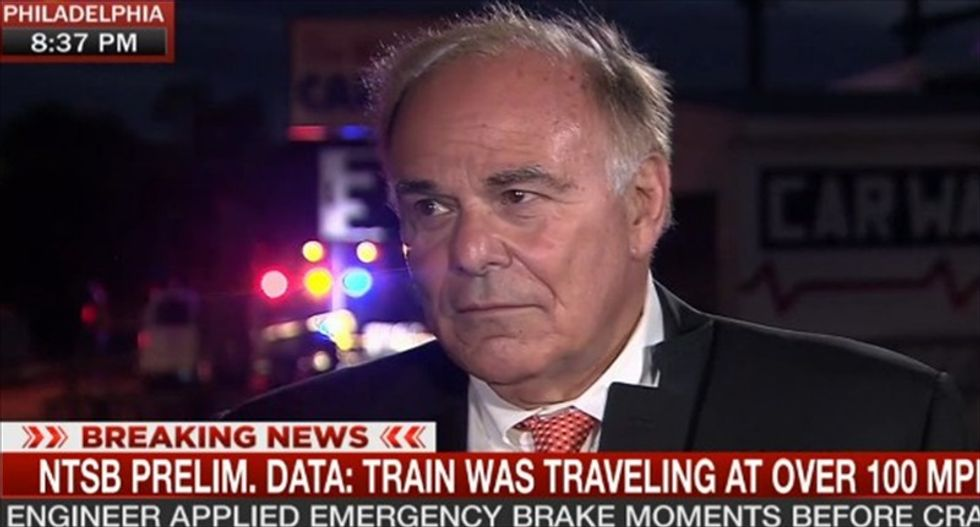 Ex-Penn. governor blasts House GOP: 'Those SOBs' wouldn't even table Amtrak cuts after fatal wreck