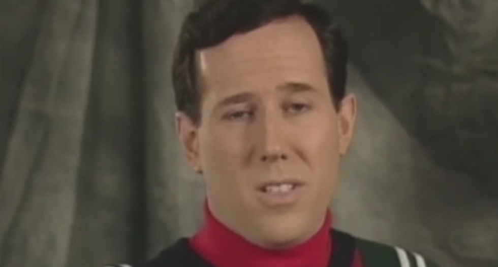 CNN's Rick Santorum squirms as Erin Burnett confronts him with video calling for Clinton's impeachment
