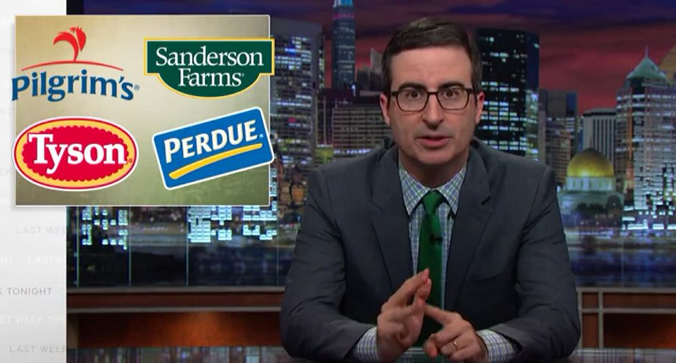 John Oliver: 'Chickenf*cker' lawmakers won't protect farmers from 'controlling *sshole' corporations