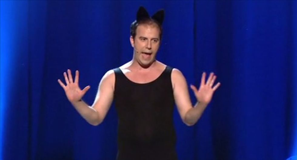 The 'Mad Men' finale's naked hippie played 1,000 cats in a mini-musical and it is awesome