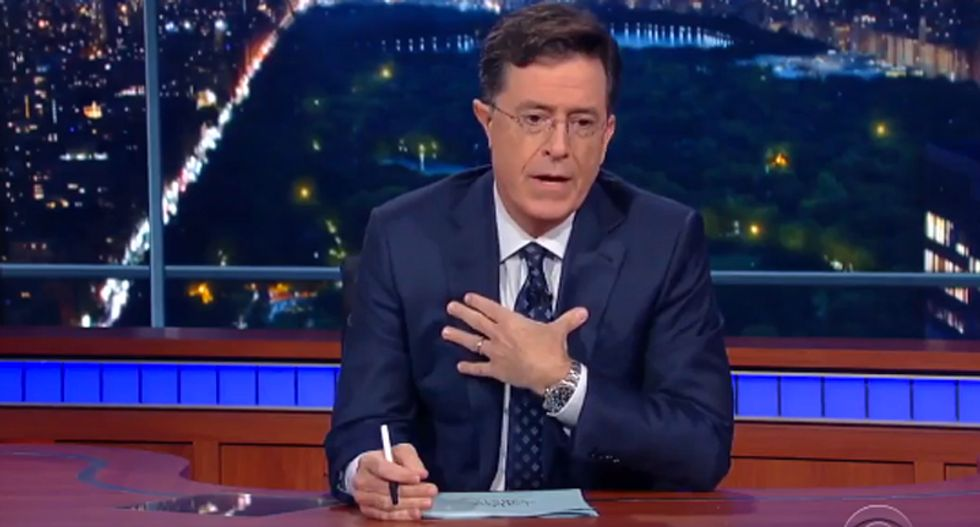 Colbert gets serious on mass shooting 'insanity': 'We change nothing and pretend it won't happen again'