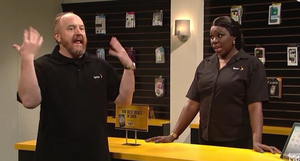 Watch: Awkward white man Louis C.K. forced to talk like a black woman for 5 years in hilarious SNL skit