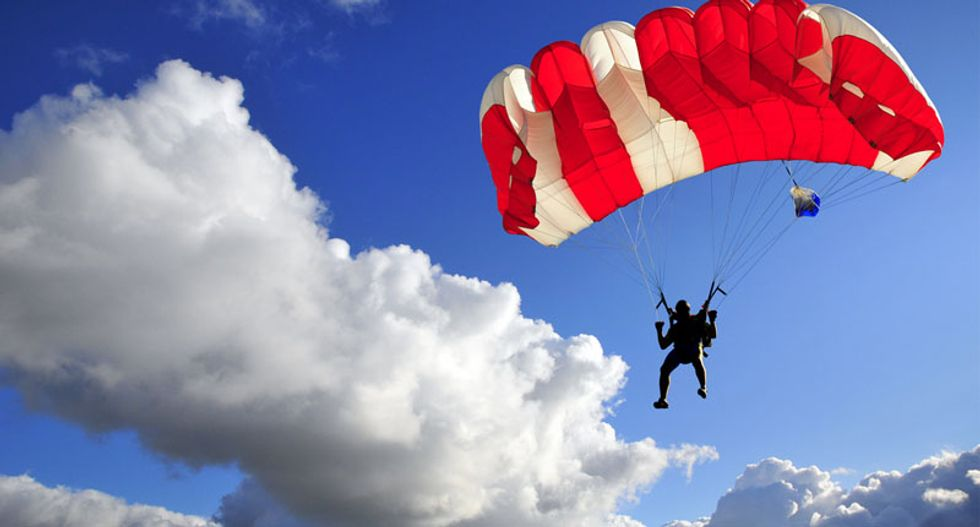Elderly Idaho BASE jumper dies after parachute set on fire