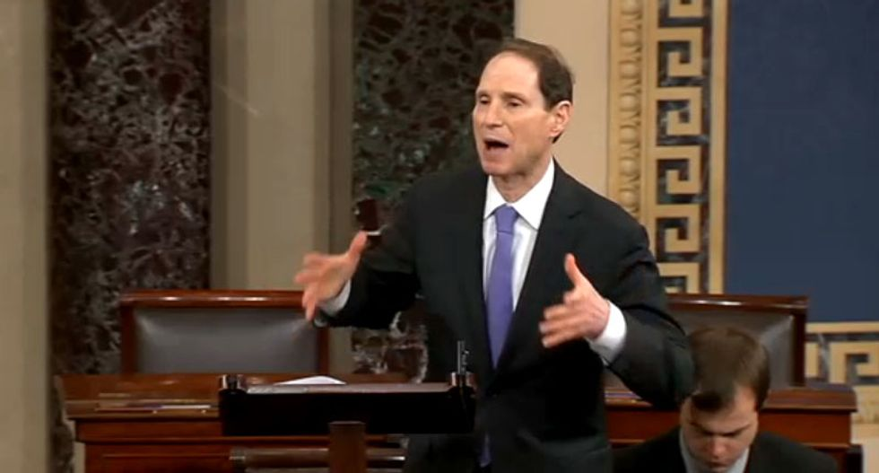 WATCH LIVE: Senators Rand Paul and Ron Wyden filibuster the Patriot Act