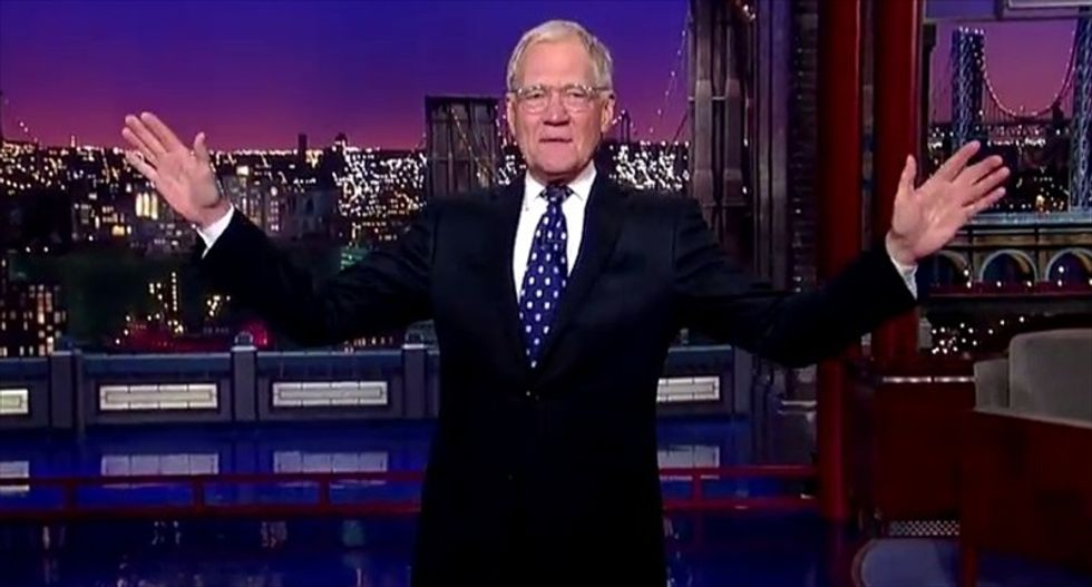 Letterman on future plans in opening monologue: 'I'm going to become the new face of Scientology'