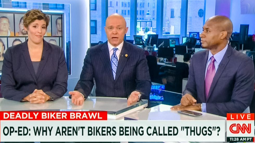 CNN's ex-cop defends not calling white bikers 'thugs': 'This thing started with the black community'
