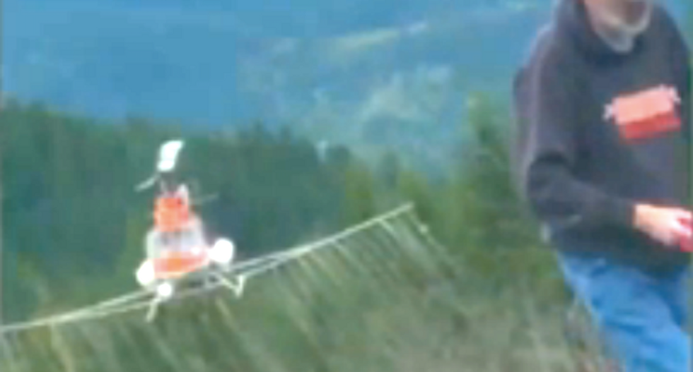 Videos show helicopter repeatedly drop eye-destroying chemicals onto timber workers below
