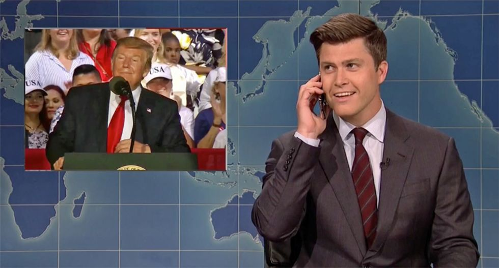 Saturday Night Live calls the authorities to report a 'kook' after Trump's unhinged Florida Panhandle rally