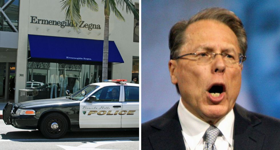 BUSTED: National Rifle Association caught spending $275,000 at Beverly Hills boutique — on suits for Wayne LaPierre