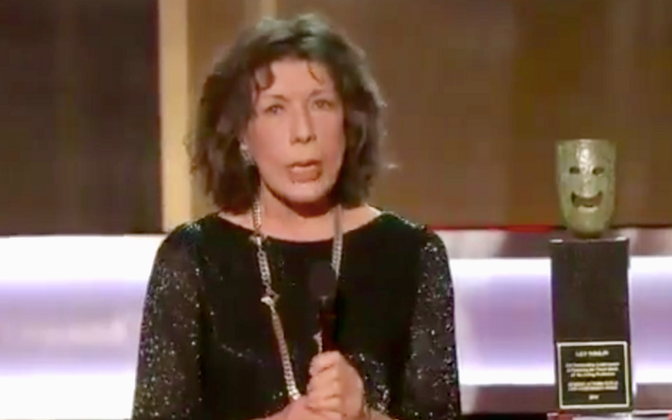 Lily Tomlin's SAG Awards advice: Live your life so your friends won't need 'alternative facts' for your eulogy