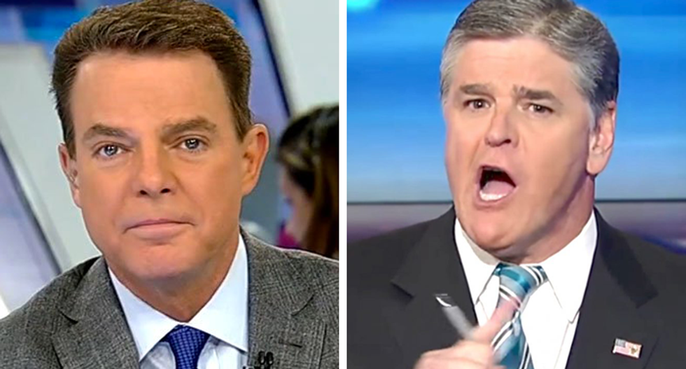 Hannity talked smack about Fox colleague Shep Smith to Trump at Mar-a-Lago — and he 'ate it up'