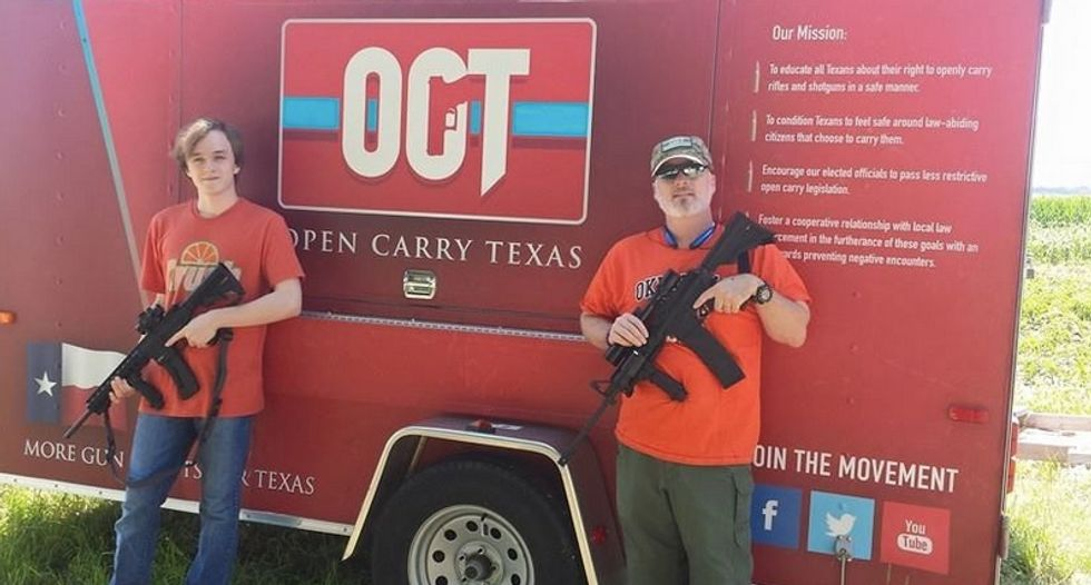 Open Carry Texas activists strapped with guns say cops treat them like 'terrorists' by asking for ID
