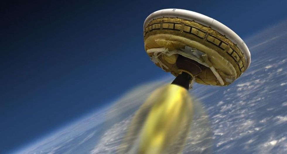 Parachute for NASA 'flying saucer' only partly deploys during test