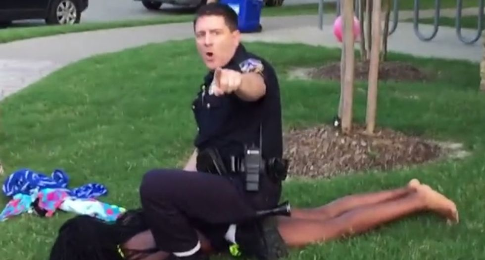 Black teen files $5 million lawsuit against white cop who assaulted her at 2015 Texas pool party