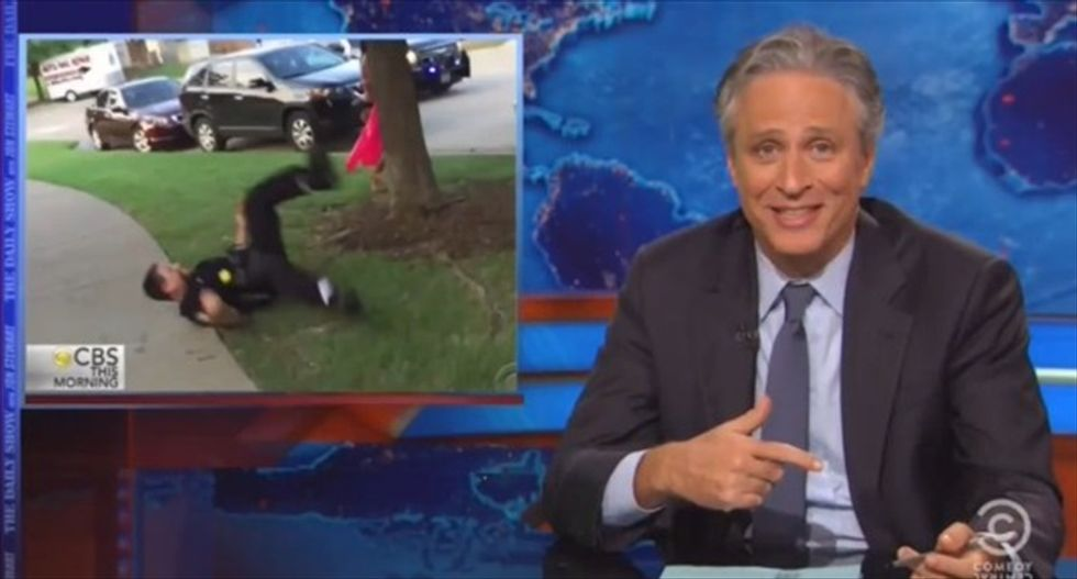 Jon Stewart blasts 'a*shole' McKinney cop: 'How do you go from a pool party to this?'
