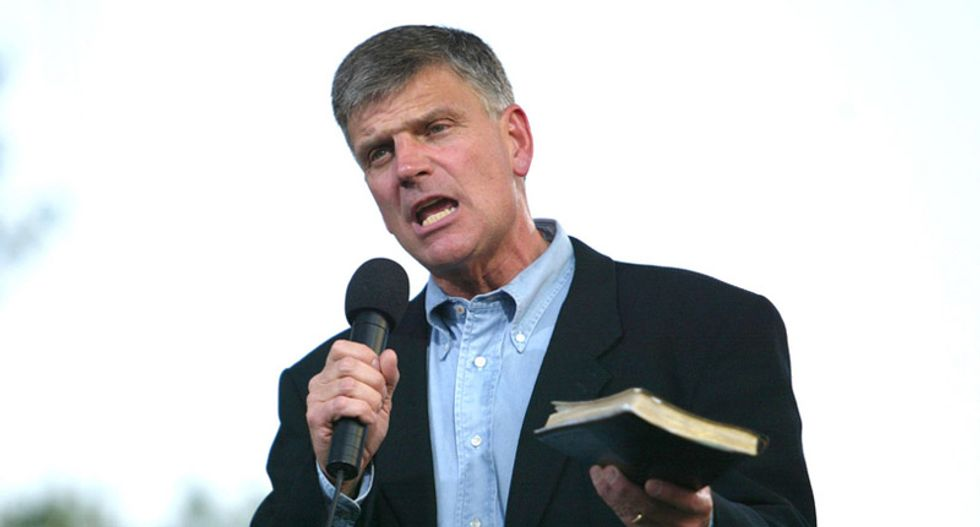Oops: Franklin Graham moves bank accounts from gay-friendly bank to one that sponsors gay pride events
