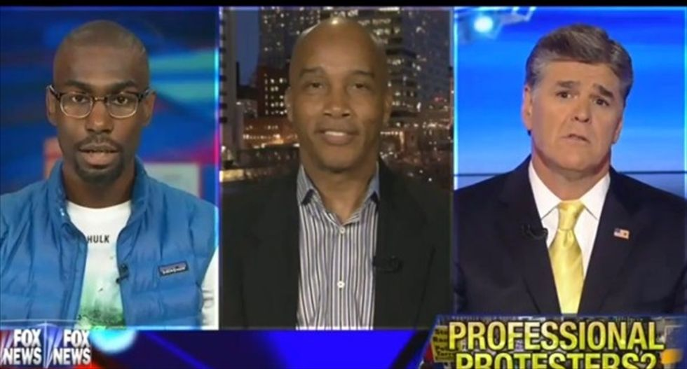 Sean Hannity and guest accuse activist Deray McKesson of being a 'race pimp'